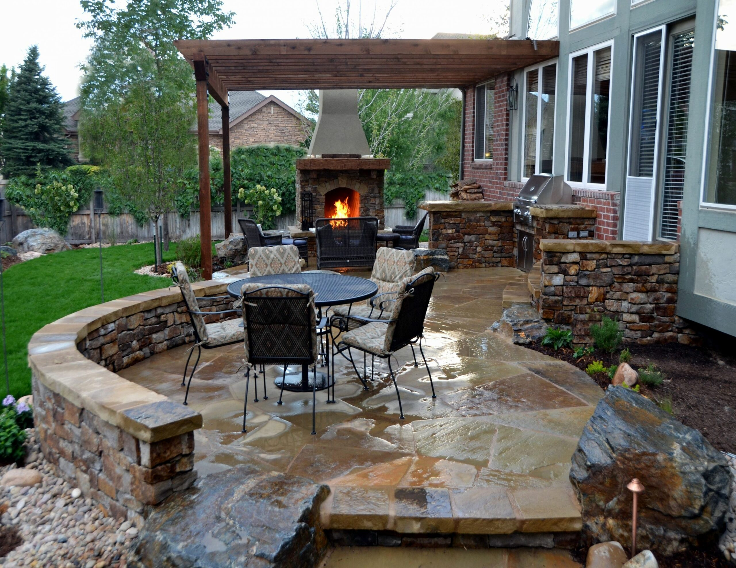 Backyard Brick Ideas Lovely Small Stone Patio Ideas Brick Paver ..