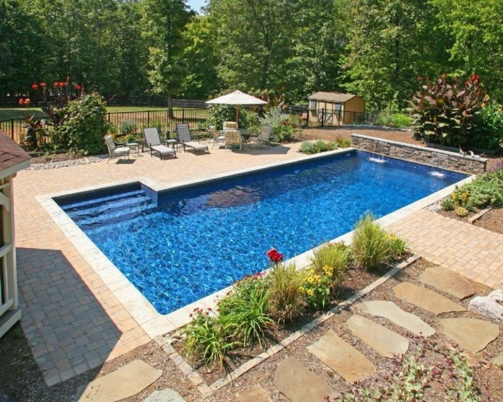 Backyard Inground Pool Designs For Small Photo Gallery Rectangle ..