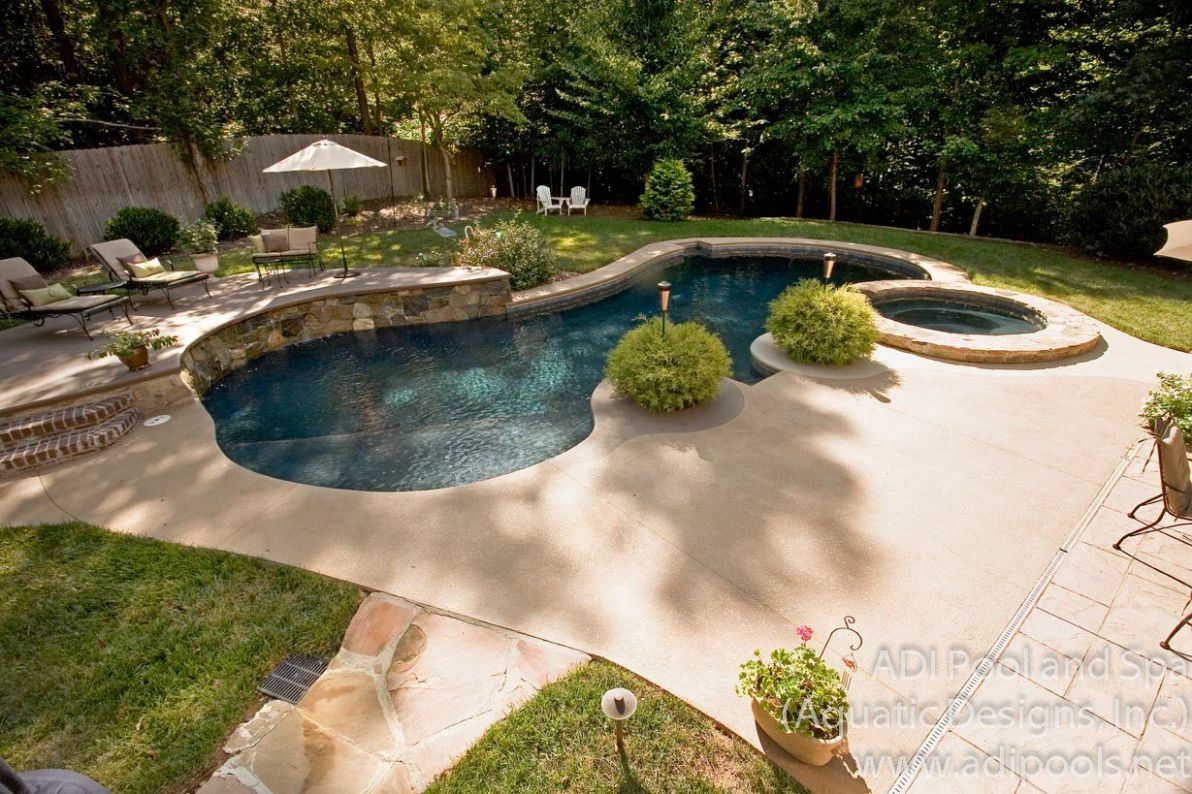 Backyard pool landscaping ideas (With images) | Backyard pool ..