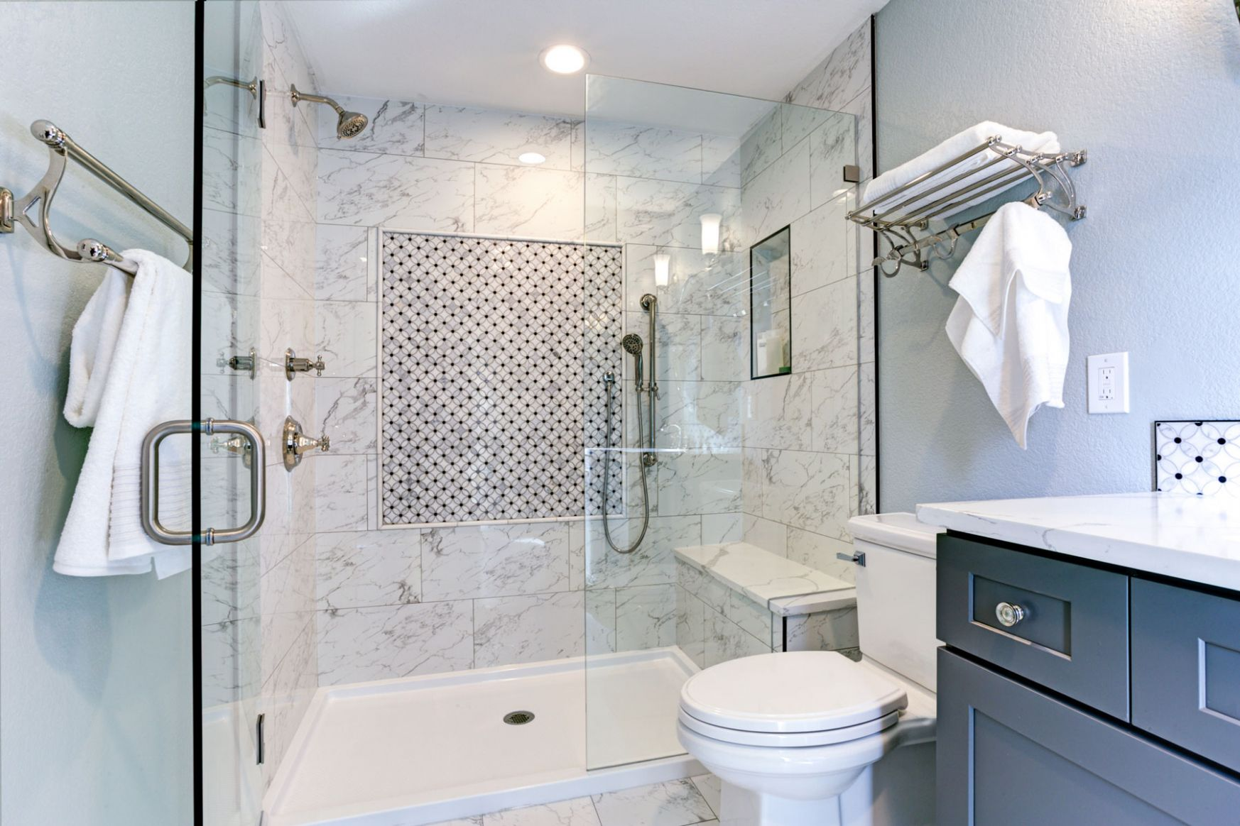 Bathroom Design Tricks for a Cleaner-Looking Bathroom | Real Simple - bathroom ideas pictures