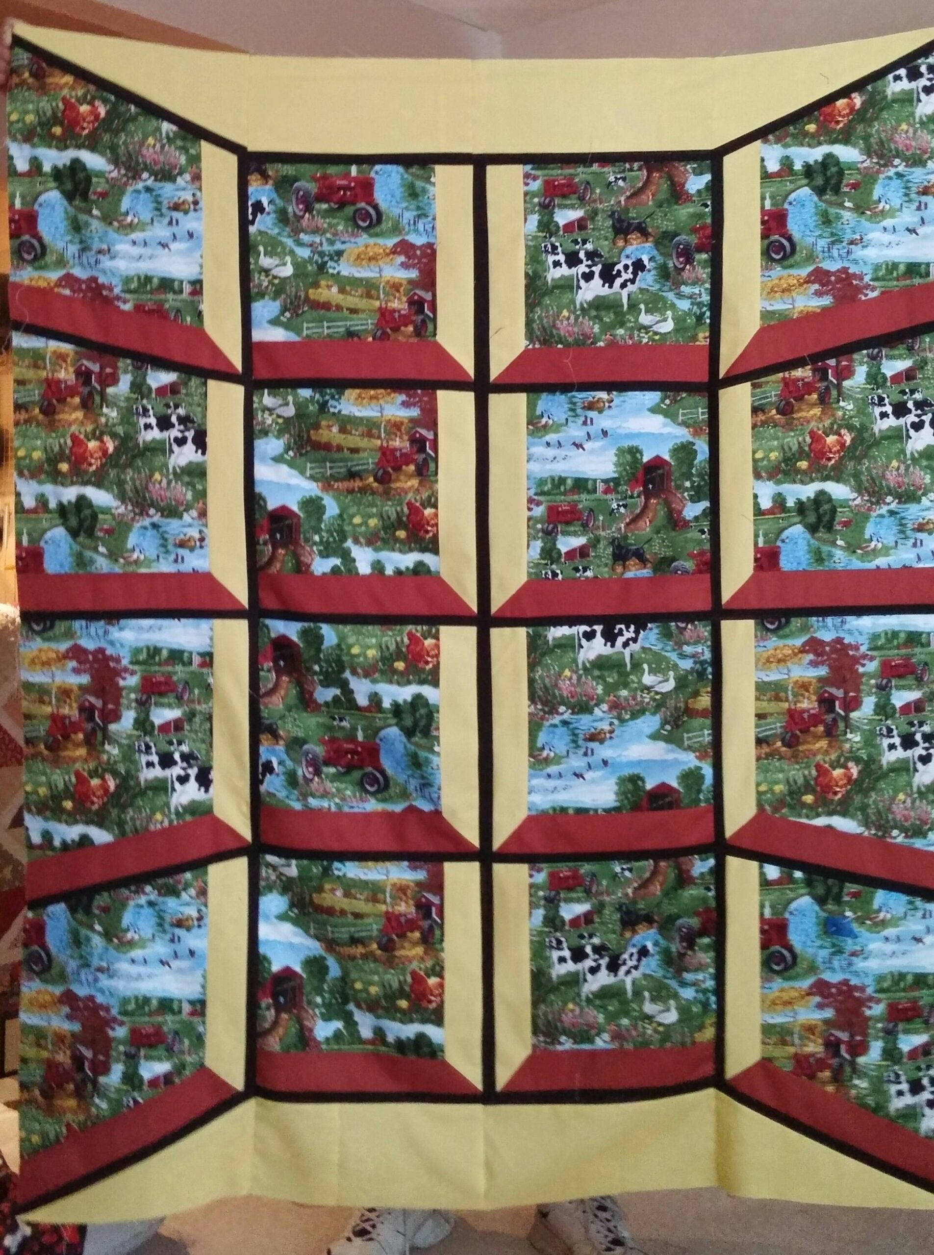 Bay Window Quilt (With images) | Attic window, Attic remodel, Attic ..