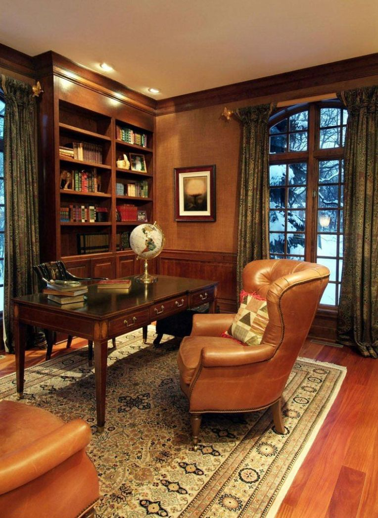 Beautiful Photo of Home Study Design Ideas | Masculine home ...