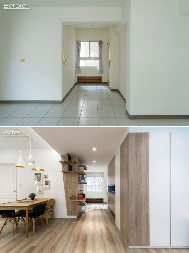 Before & After - A Plain 10s Apartment Has Been Transformed Into ..