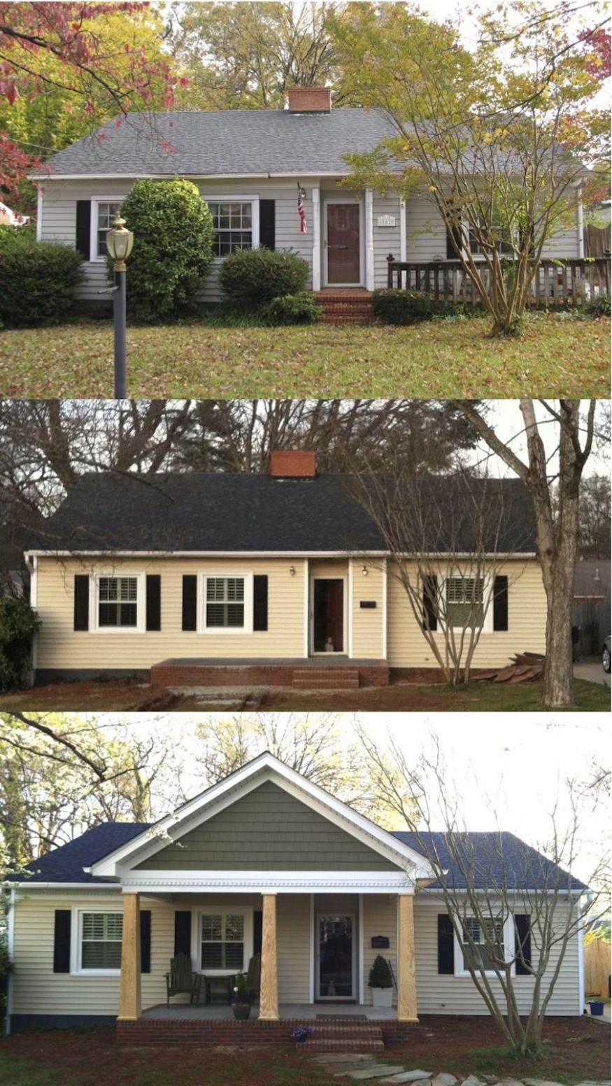 Before and after the porch addition Let http://Contractors9you.com ...