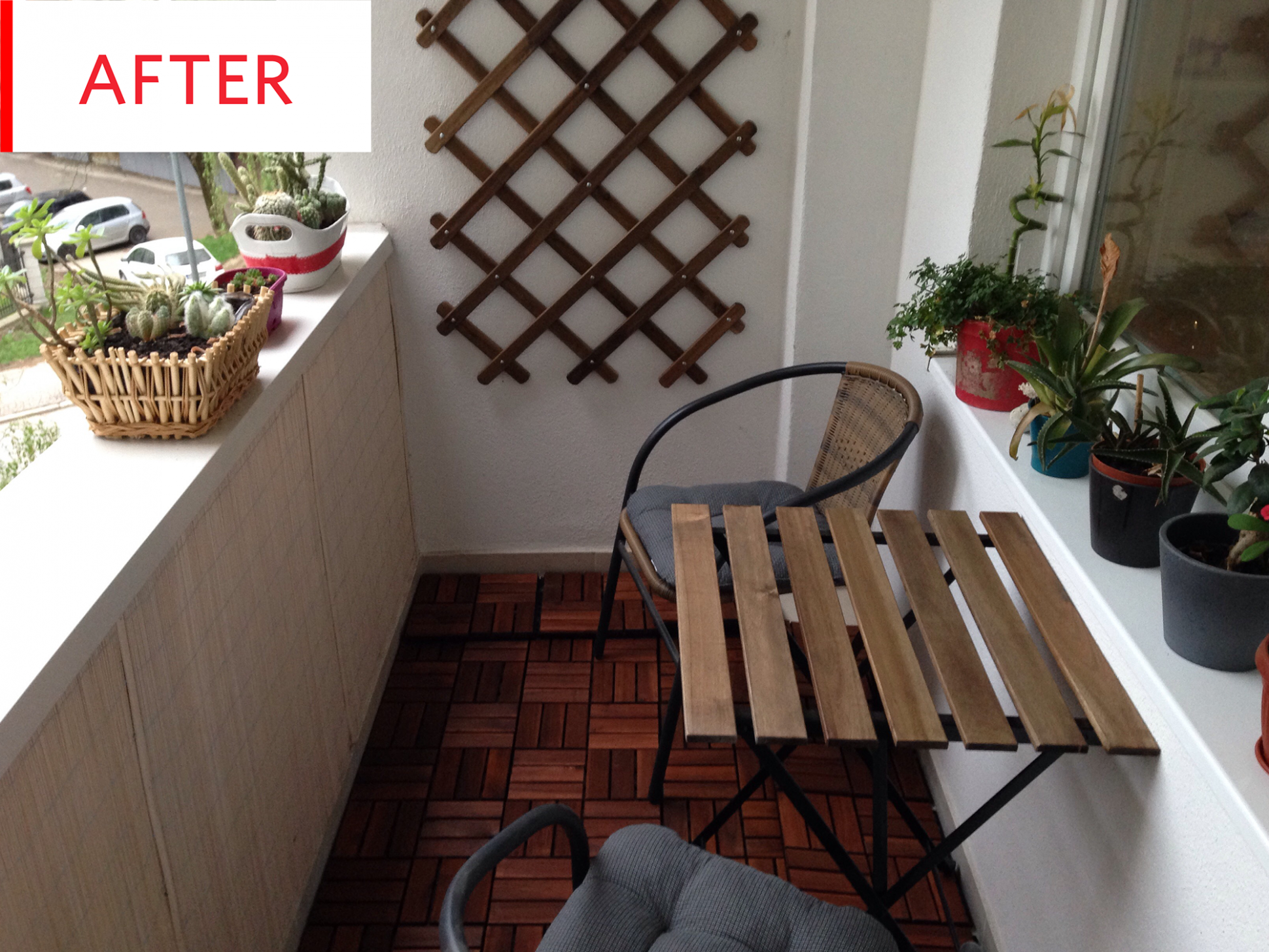 Before and After: This Cold, Concrete Balcony Gets an Easy $10 ..