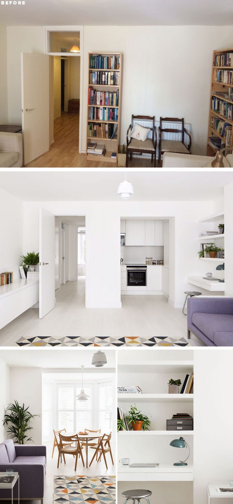 Before And After - This Small Apartment In London Was Redesigned ..