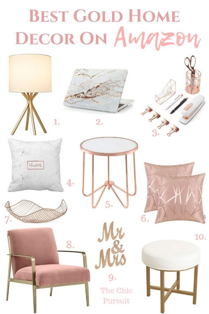 Best Gold Home Decor Finds On Amazon (With images) | Rose gold ...