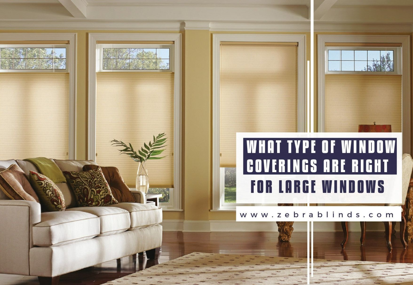 Best Ideas for Window Coverings for Large Windows - sunroom blinds ideas