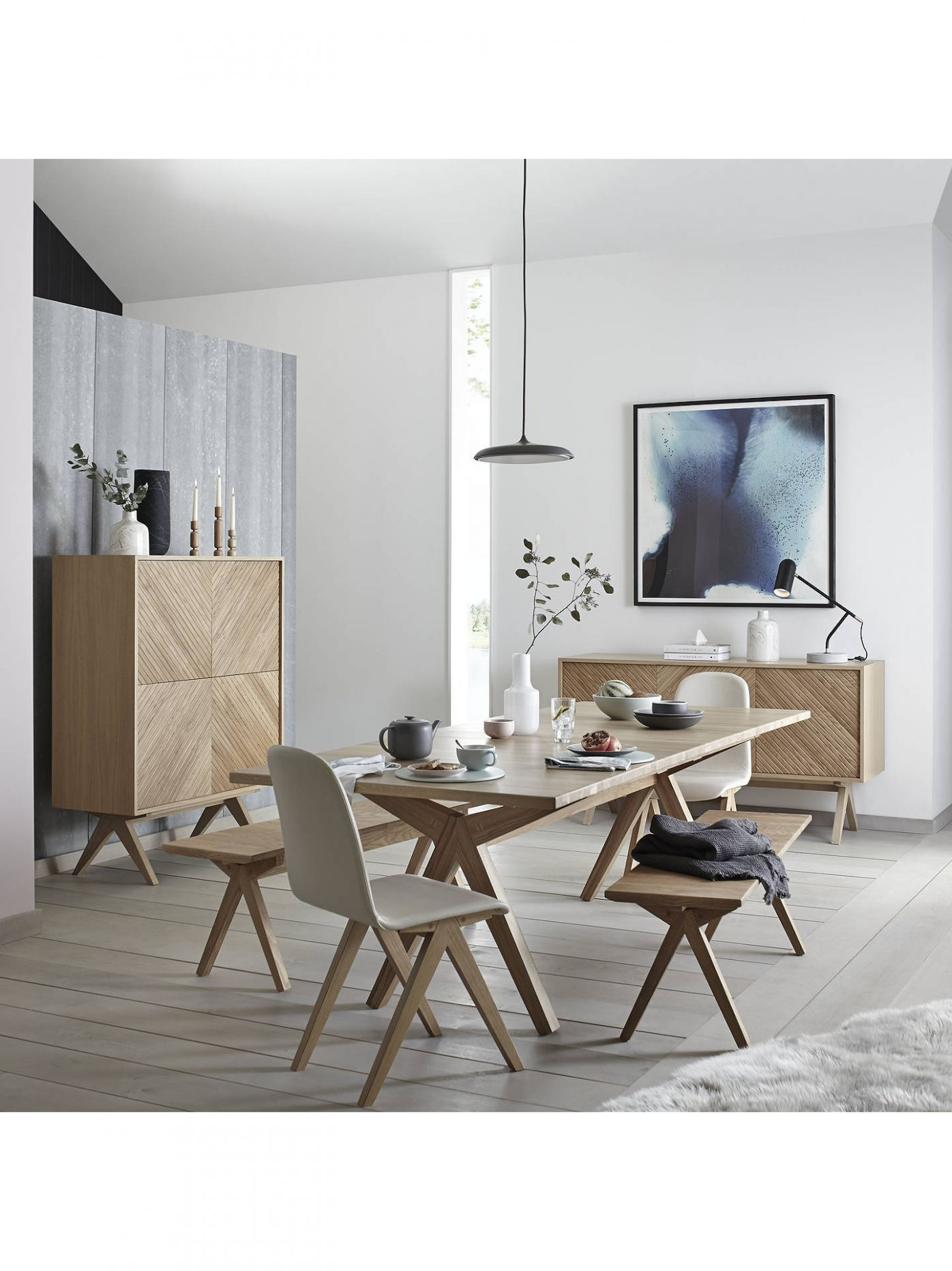 Bethan Gray for John Lewis & Partners Newman Small Dining Bench - john lewis dining room ideas