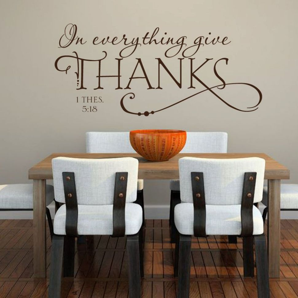 biblical vinyl wall decals | ... Kitchen Bible Quote - Removable ...