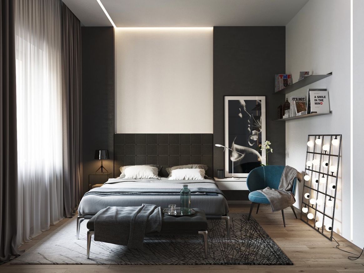 Black and white master bedroom shows the stretch of the monochromatic - bedroom ideas black and white