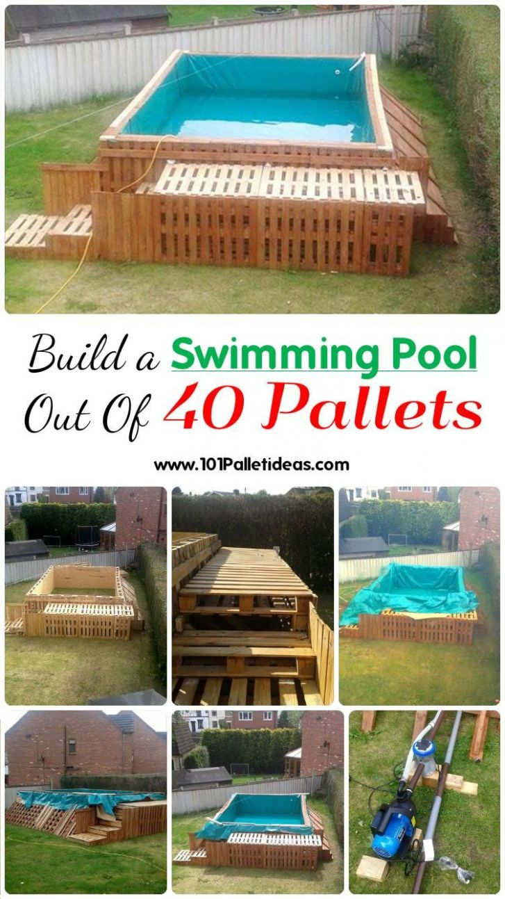 Build a Swimming Pool Out Of 8 Pallets | 8 Pallet Ideas ..