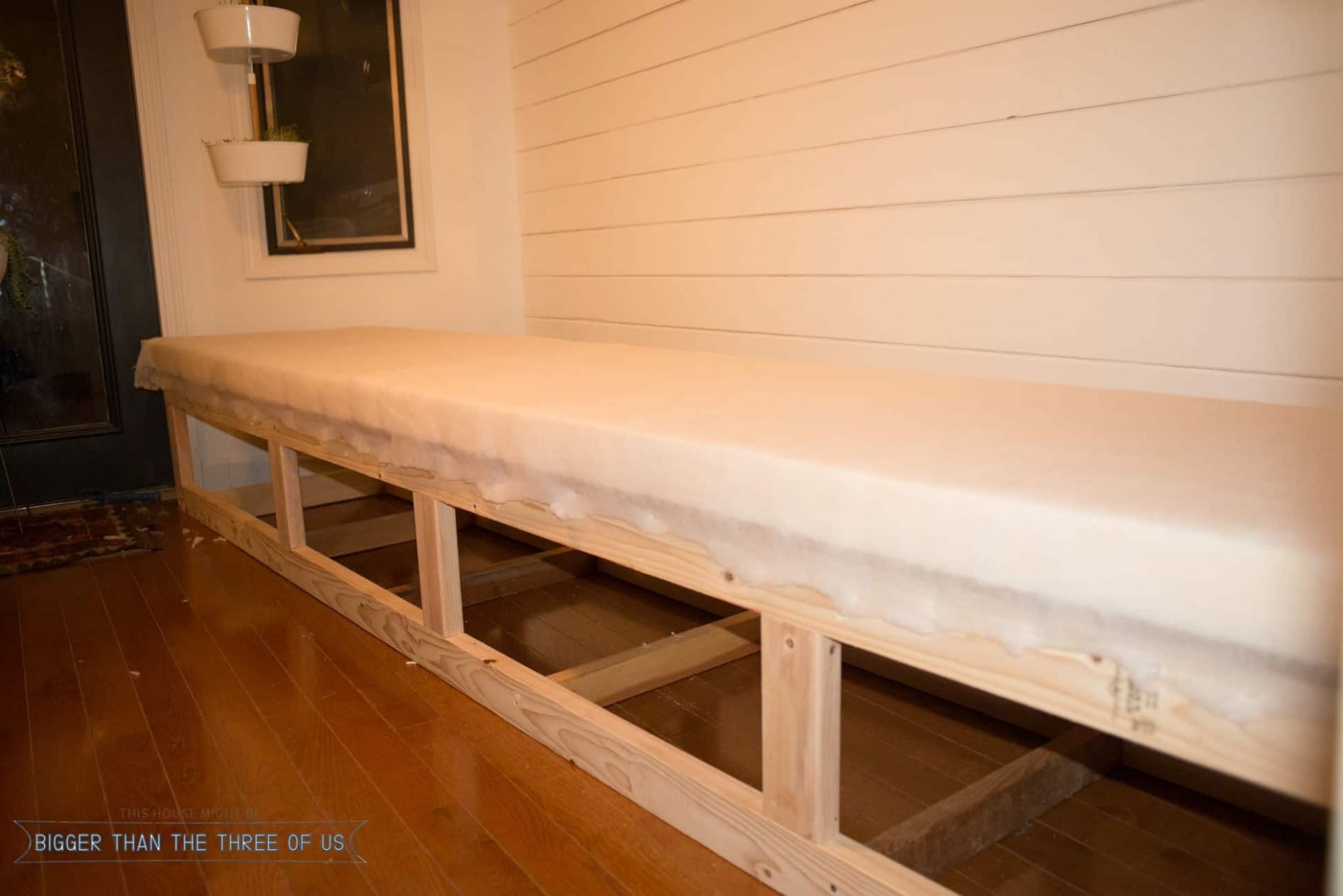 Built-in Banquette Tutorial | Furniture, Home, Small sunroom