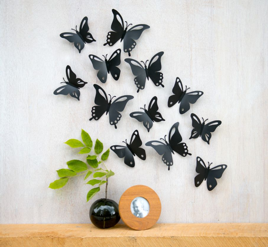 butterfly wall design ideas - Kanese