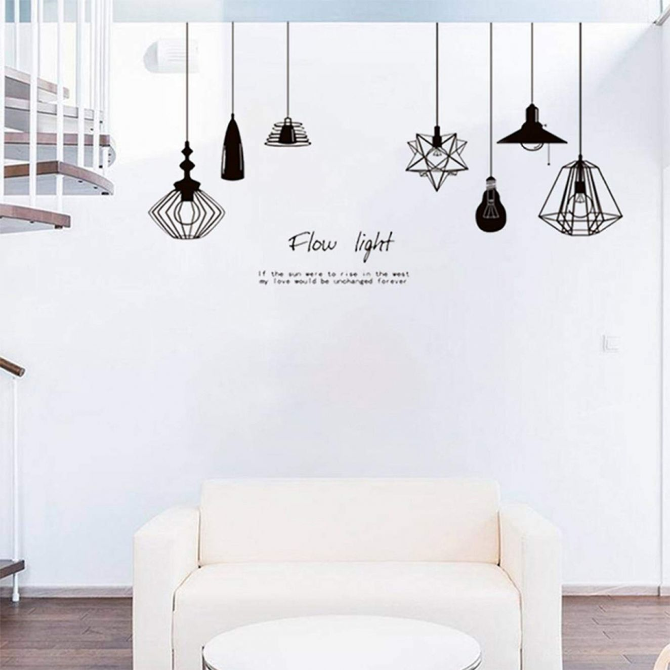 Buy NUOFENG Selling Black Chandelier Removable Wall Sticker Vinyl ..