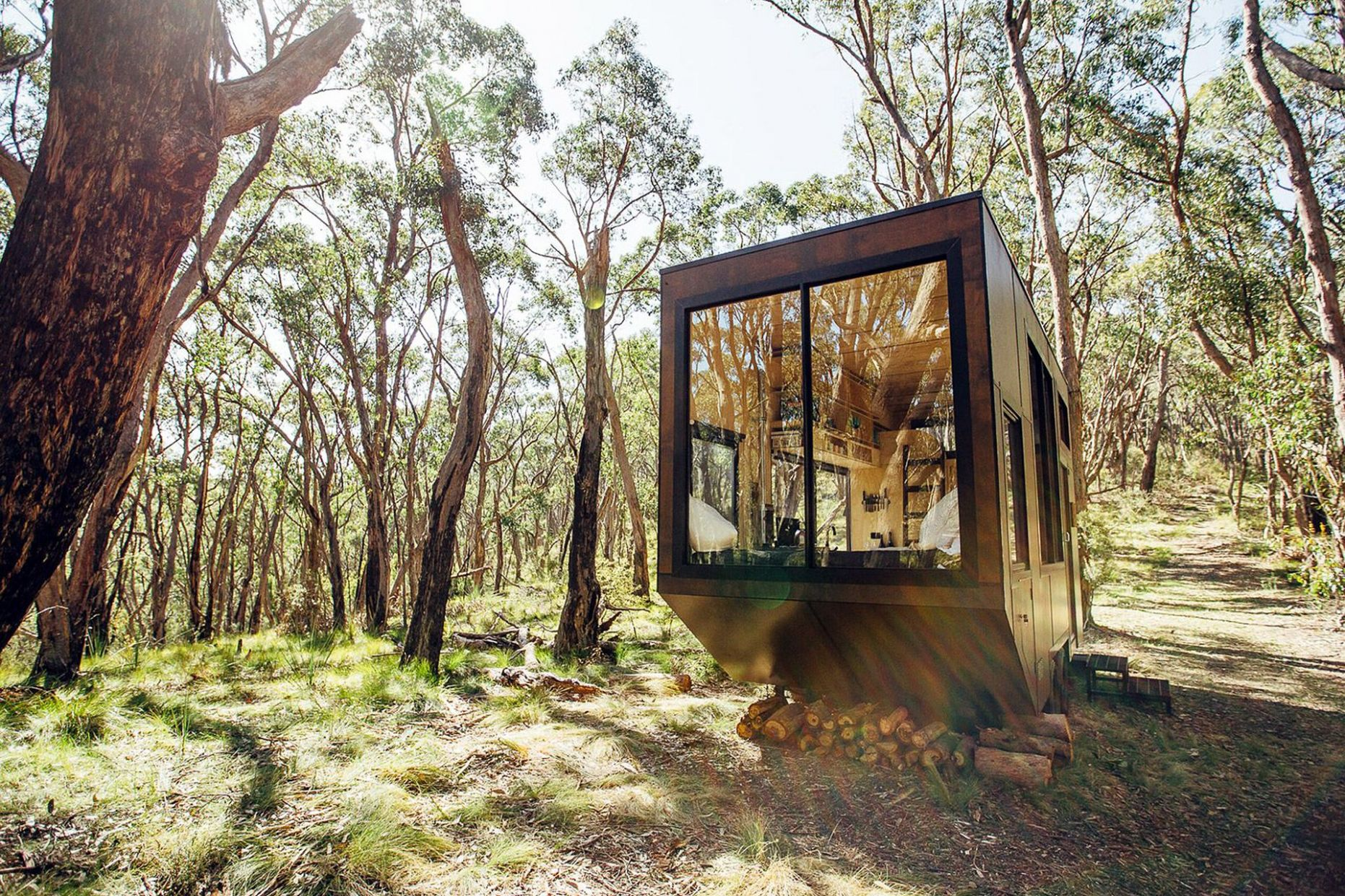 Cabn Adelaide Hills Cabin | Off grid tiny house, Tiny house design ...