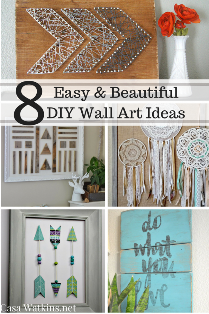 Casa Watkins: 12 Easy and Beautiful DIY Wall Art Ideas ...
