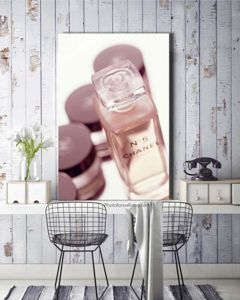 Chanel no 12 print decoration bathroom wall decor, Coco Chanel Large Canvas  art, Chanel makeup canvas art, shabby chic decor, large wall art - bathroom wall decor ideas etsy