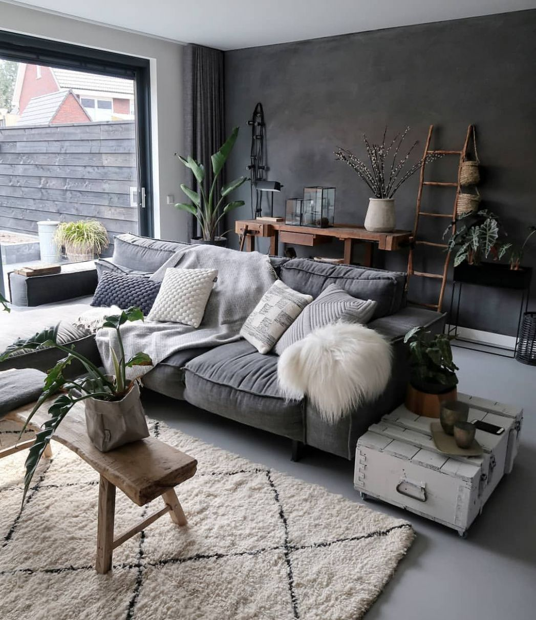 Charismatic Dark Living Room Design Ideas with Their Magic Spell ..