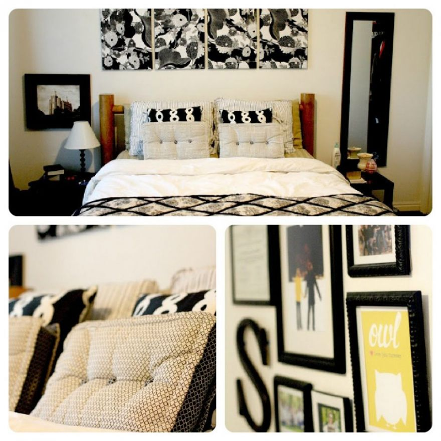 Cheap Diy Bedroom Wall Decor Ideas Master Accent Design Painting ..