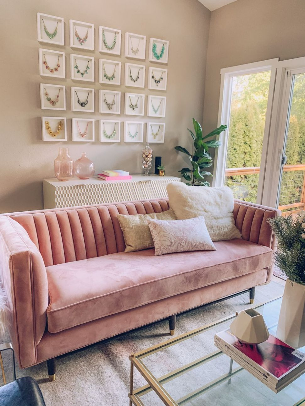 Chic and Modern Blush Pink Living Room | Blush pink living room ..