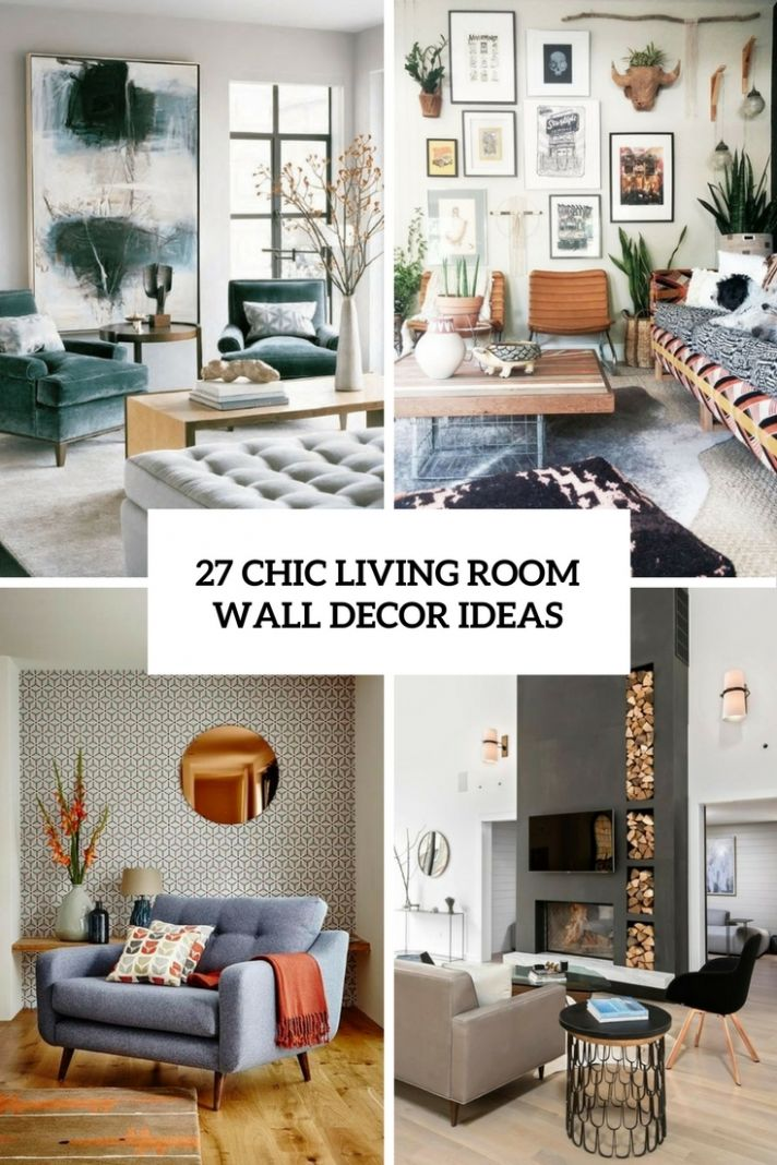 Chic Living Room Wall Decor Ideas Cover – Saltandblues - wall decor ideas chic