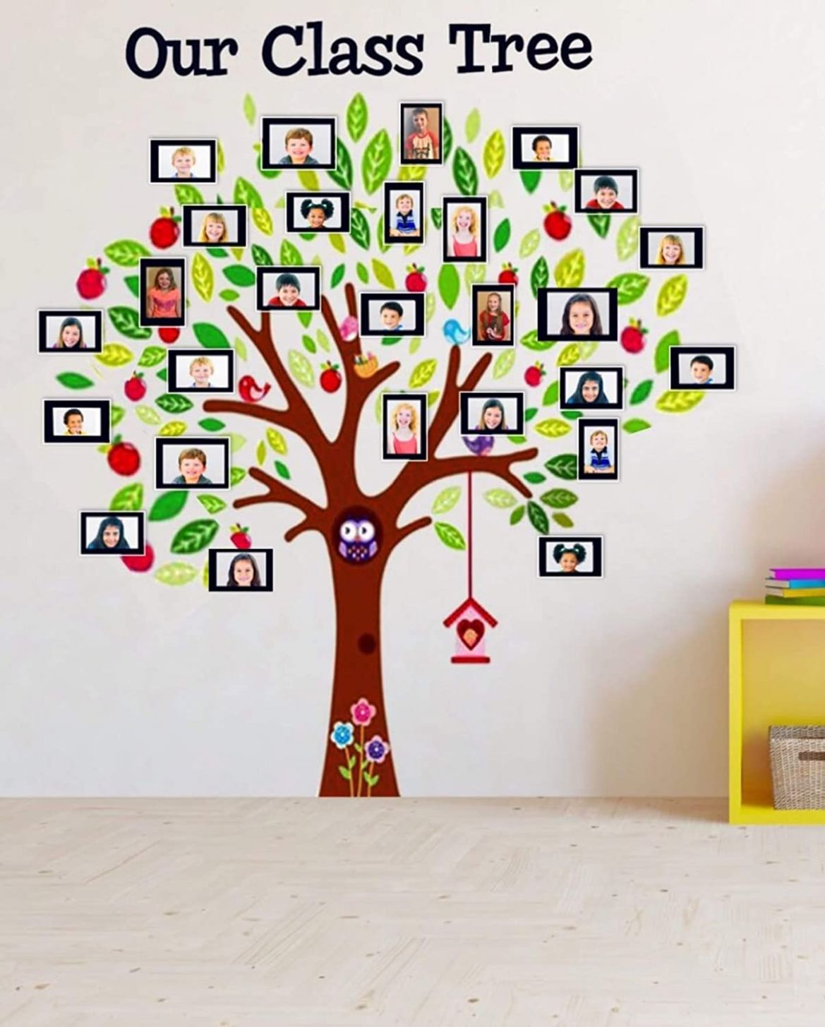 Classroom Decoration Class Tree Wall Decal Sticker with Picture ..