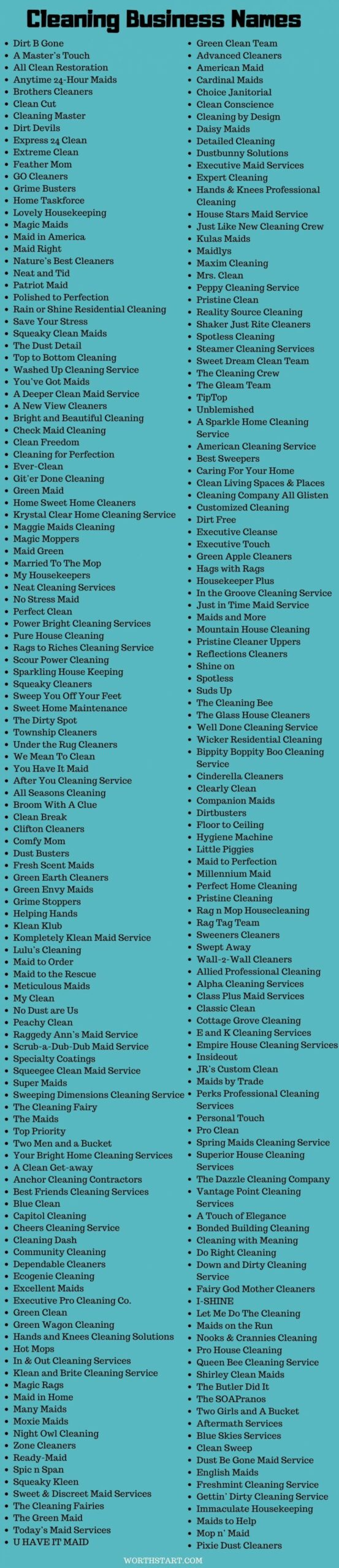 Cleaning Business Names: 9+ Cute Names for Cleaning Services