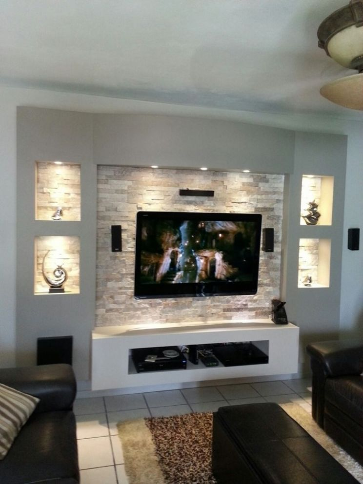 Contemporary Tv Wall Unit Idea 12 Unique T V Setup Pinterest And ...