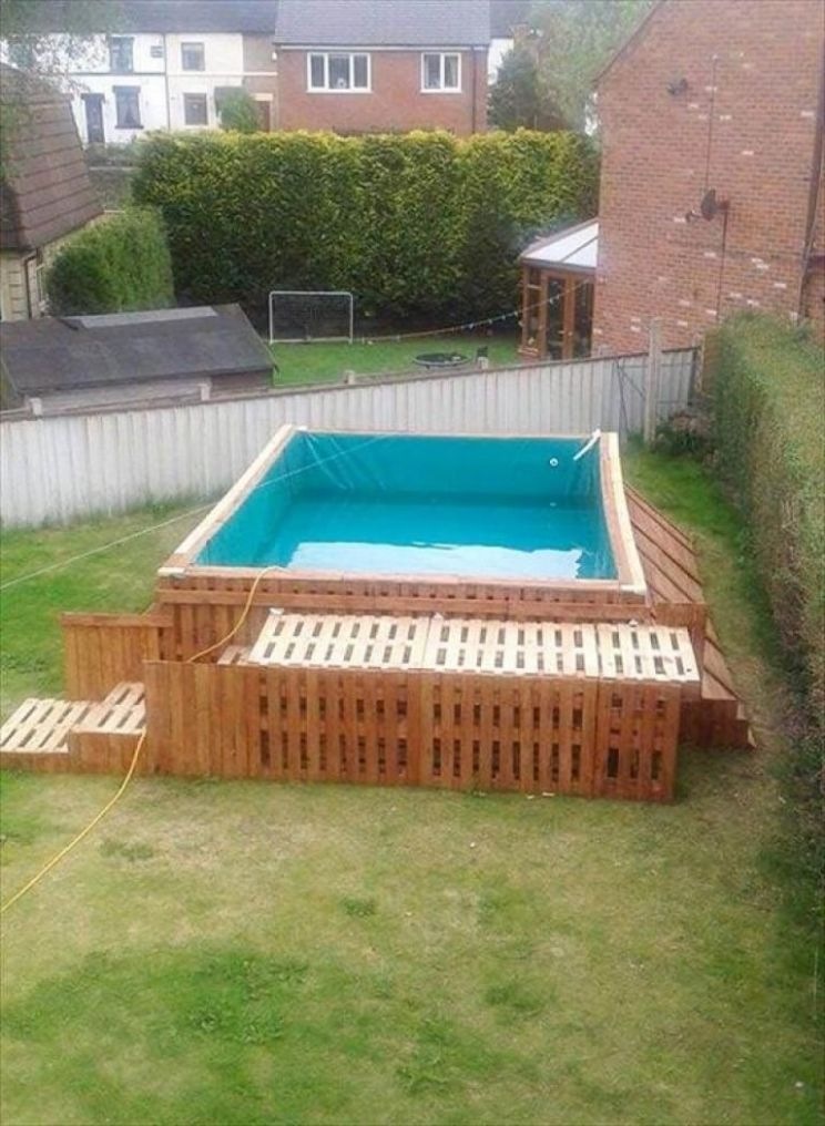 Cool DIY Pallet Swimming Pool Ideas | Diy swimming pool, Pallet ..