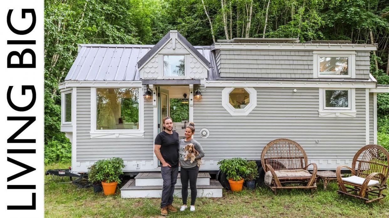 Couple Downsize Into Dream Off-The-Grid Tiny House - tiny house videos