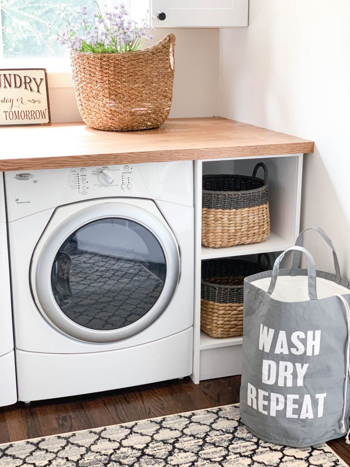 CREATING A PINTEREST PERFECT LAUNDRY ROOM | Laundry room storage ...