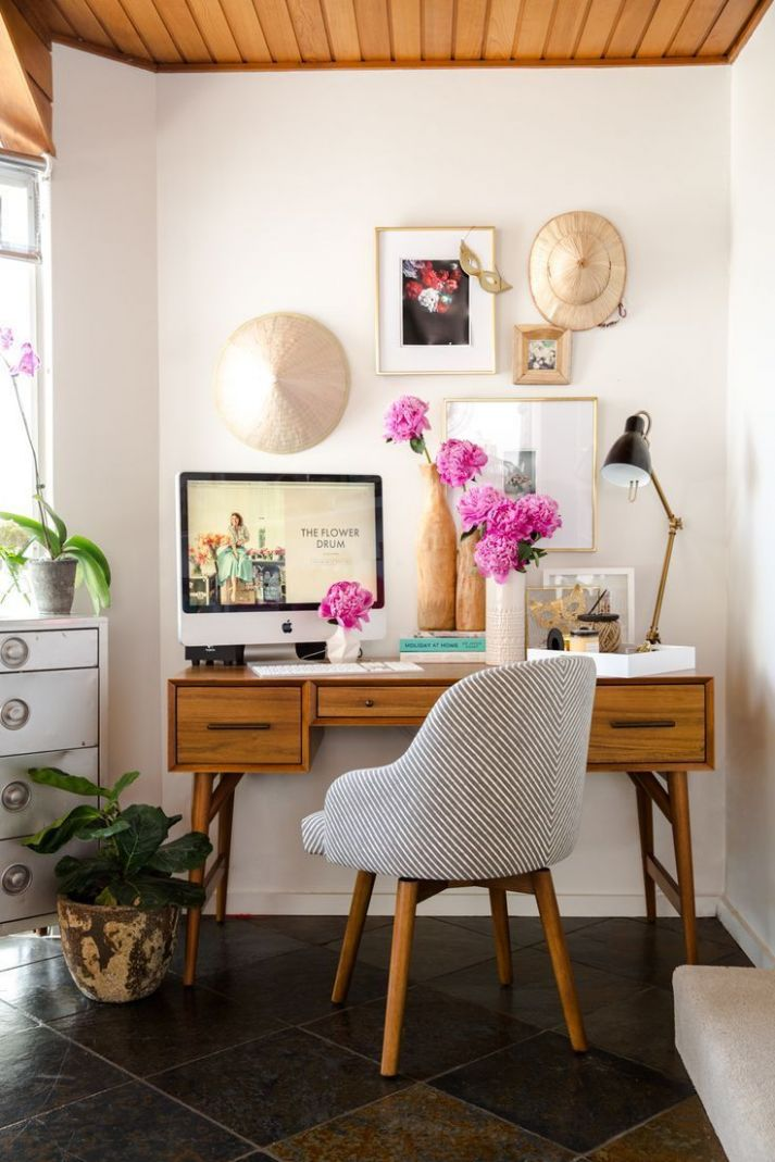 Cute little mini office | west elm home office decor ..