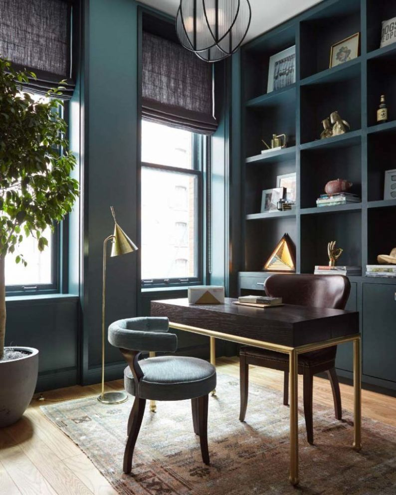 Dark Home Office Inspiration and Ideas | Home office decor, Home ...