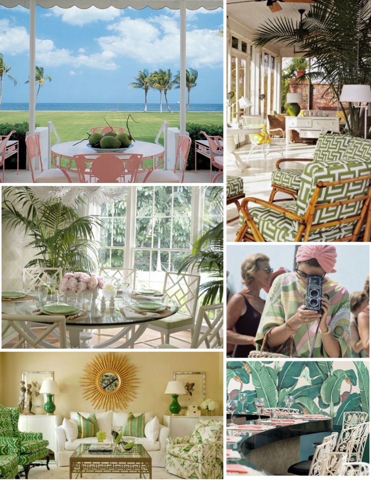Decoration inspiration for retro palm beach look-- anything you ..