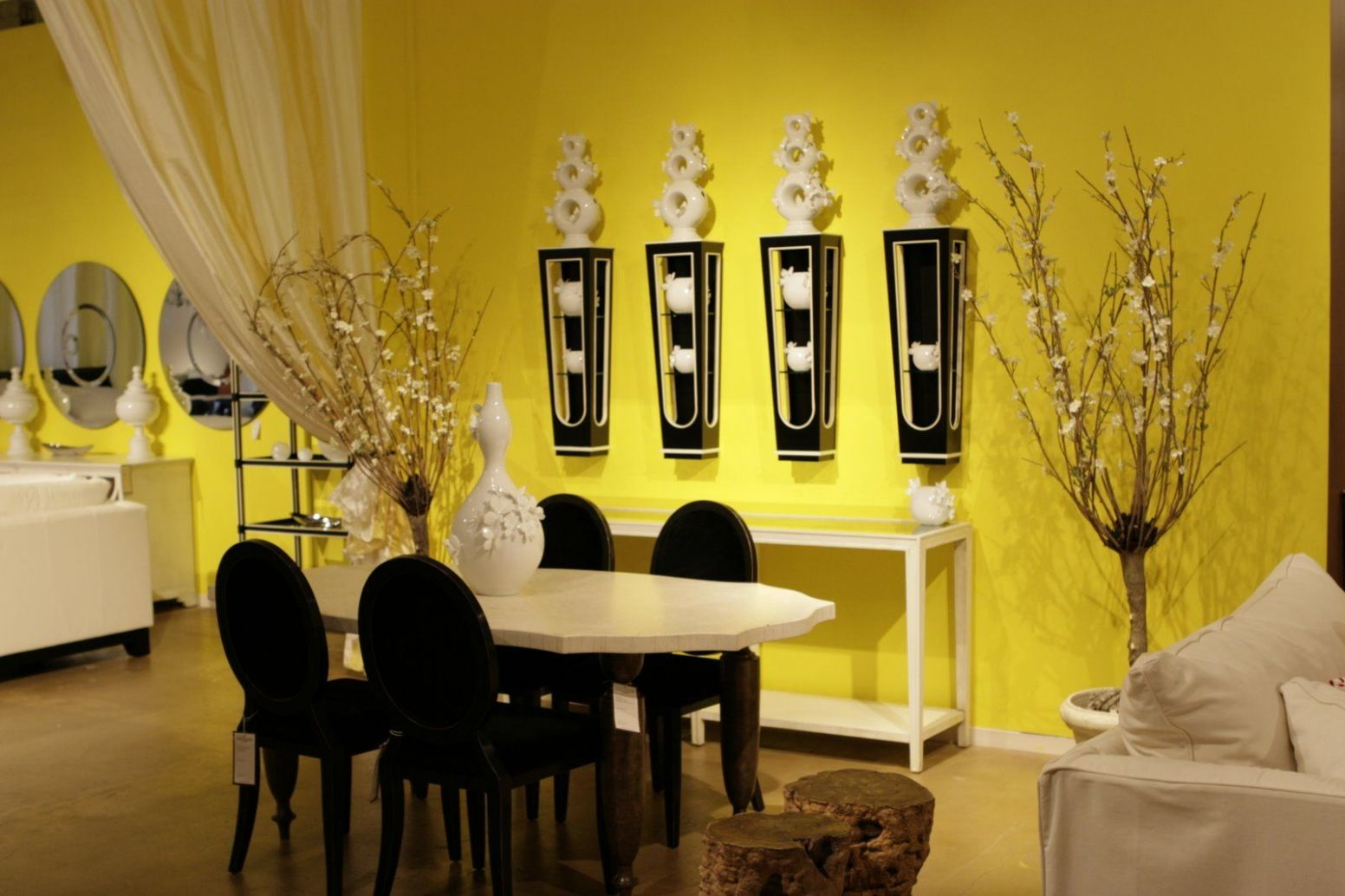 Design dining room with light yellow color walls incredible design ..