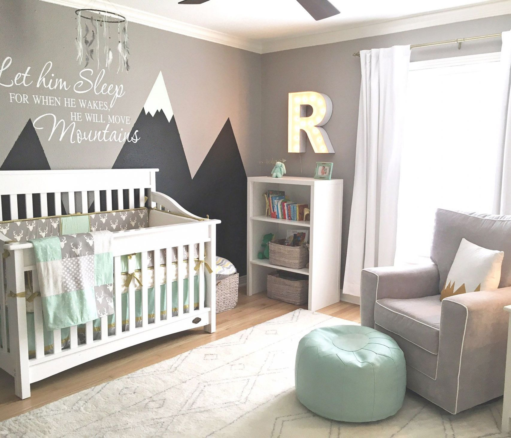 Design Reveal: Mountain-Inspired Nursery | Baby room themes, Boy ...
