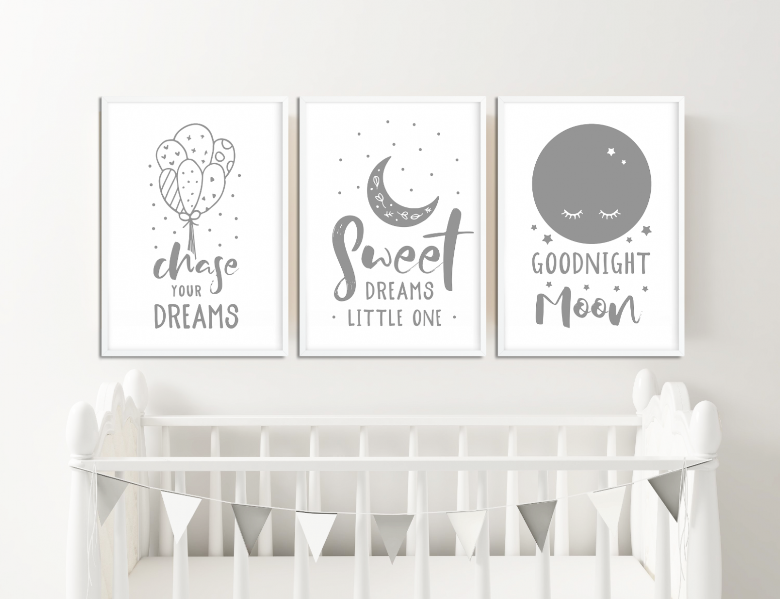 Details about Grey Nursery Prints Boys / Girls Bedroom Pictures Baby Room  Decor Ideas Baby