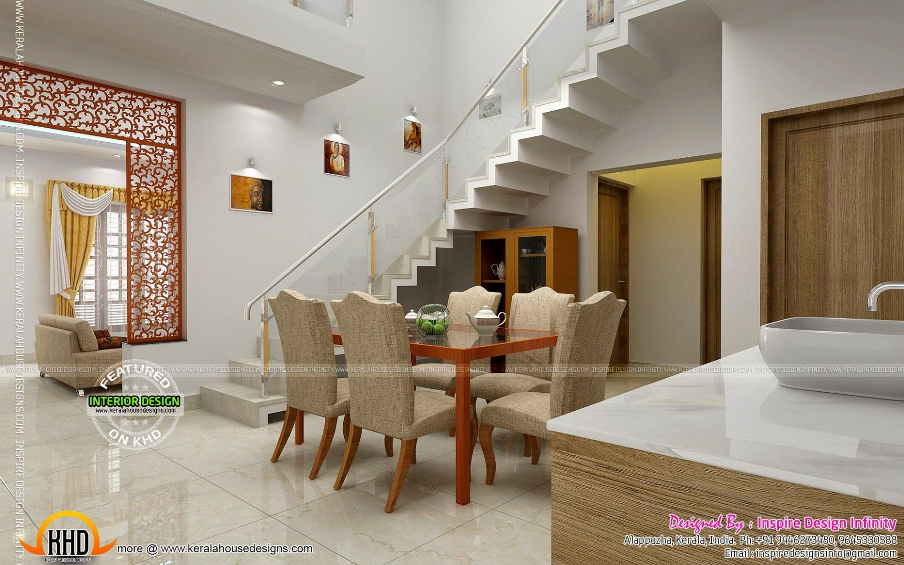 Dining room designs - Kerala home design and floor plans ..
