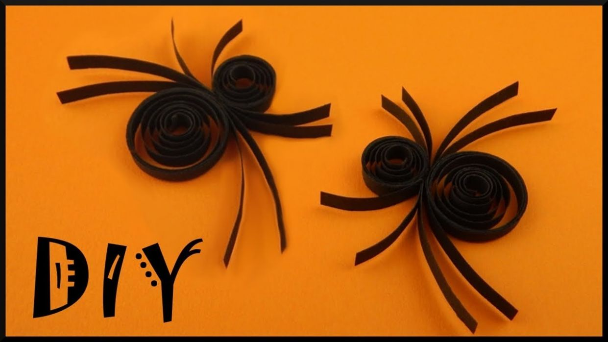 DIY 10d quilling Halloween | Schnelle Spinnen Papier Deko | Easy and fast  paper spider | party deco - halloween quilling ideas