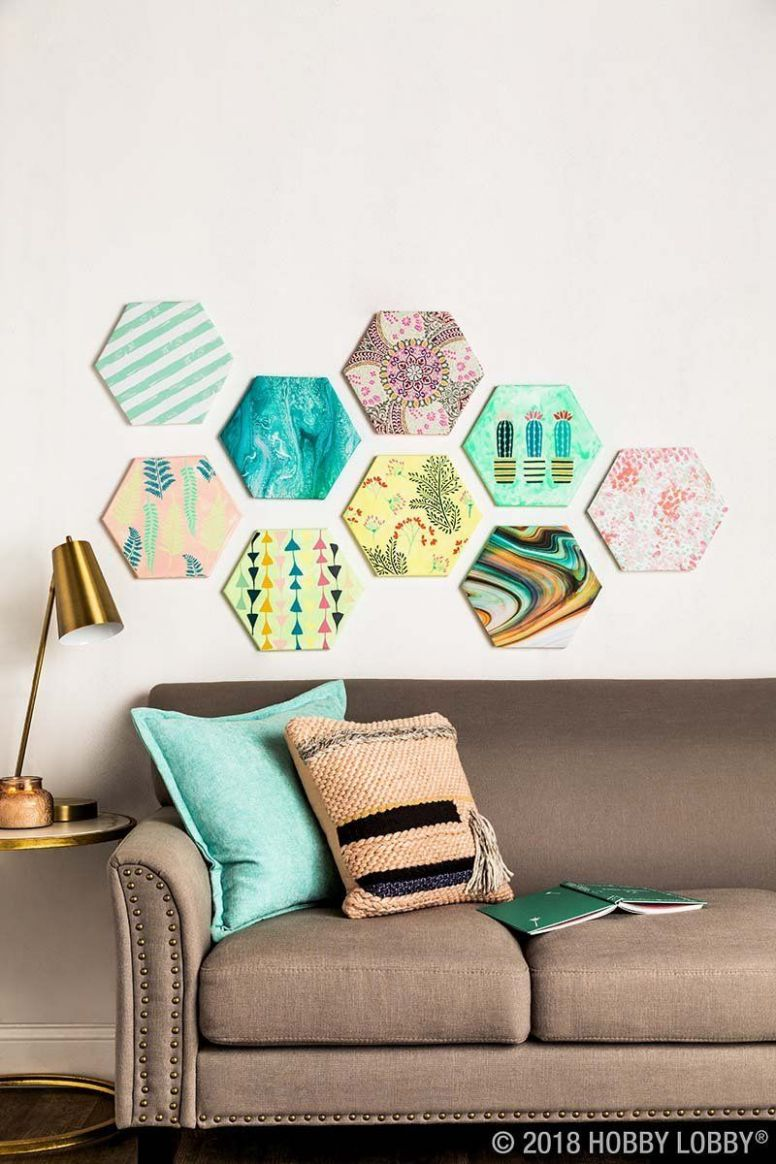 DIY a customizable gallery wall with shaped canvas! | Decor, Diy ..