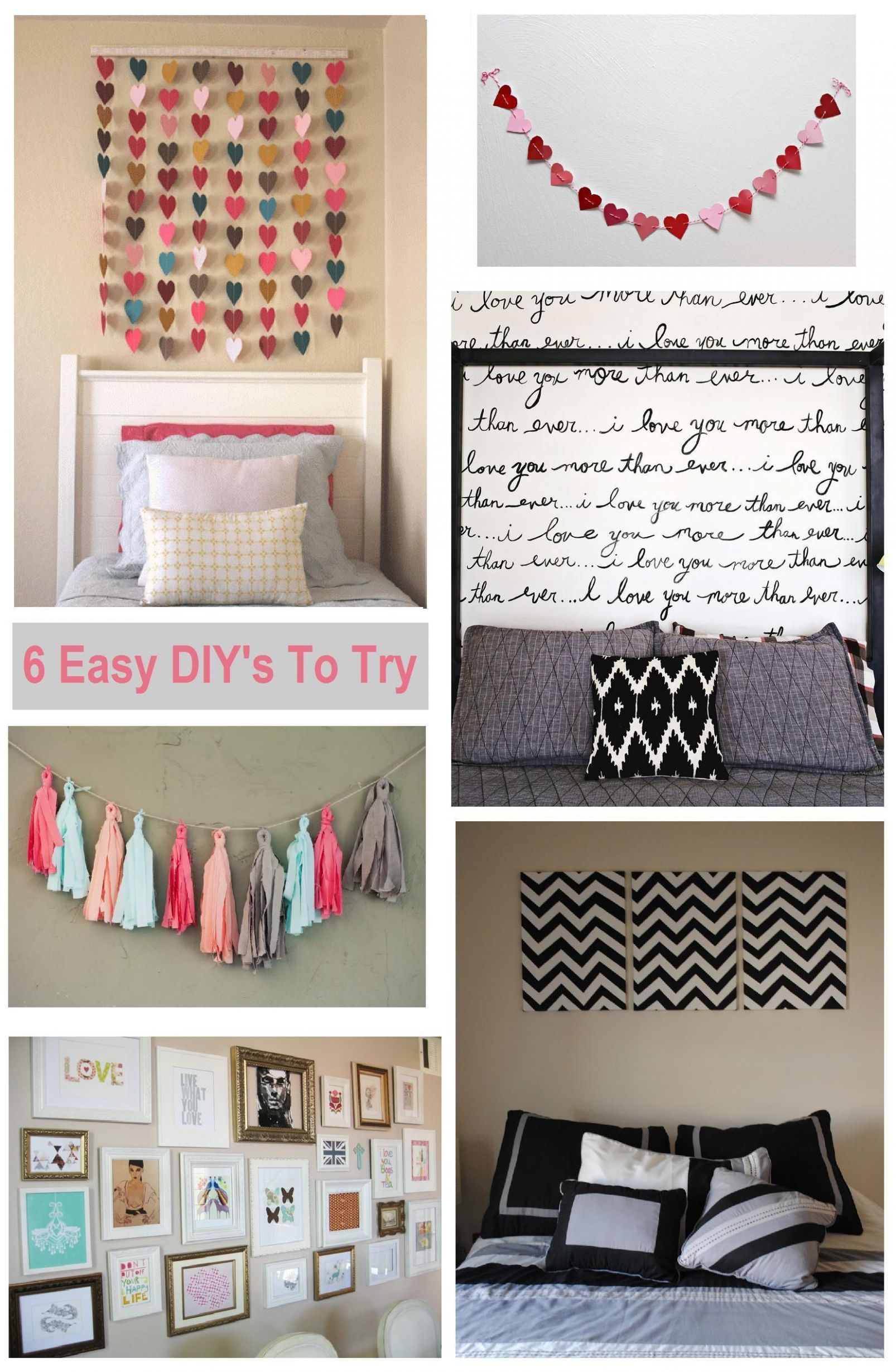 Diy Bedroom Wall Painting Ideas Accent Cheap Decor Design ..
