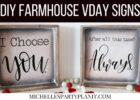 DIY Farmhouse Signs - Valentine's Day Home Decor with Cricut