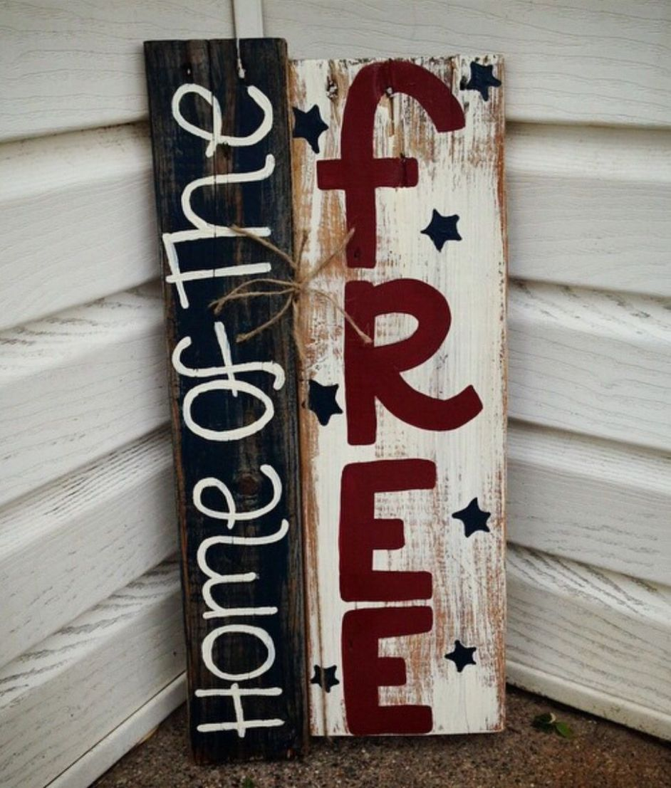 DIY Fourth of July Wooden front porch sign! | Front porch signs ..