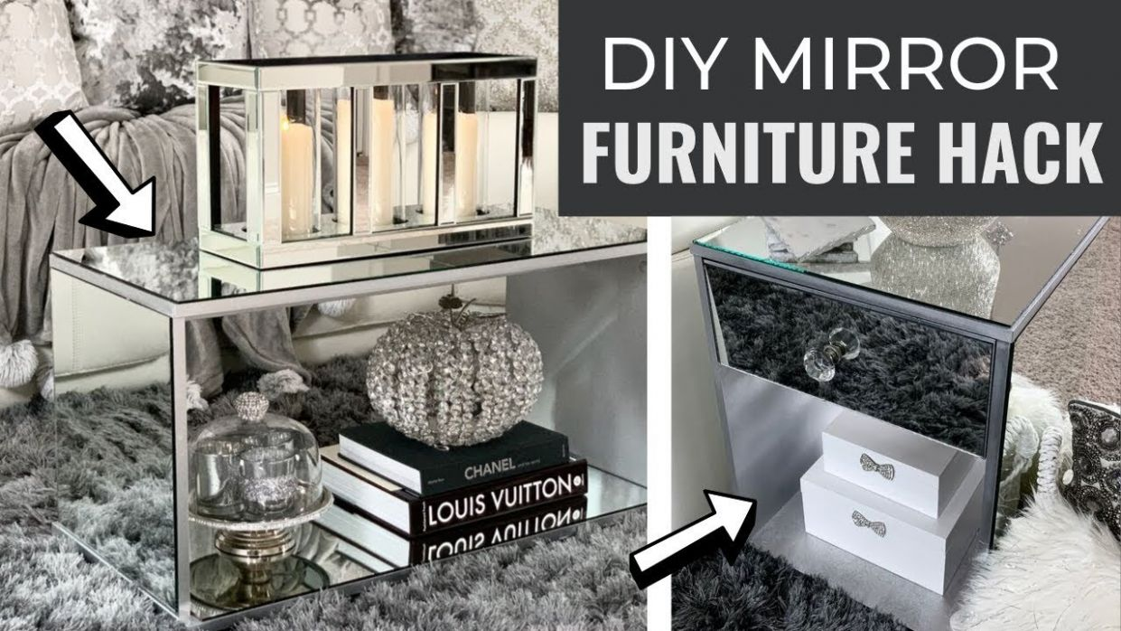 DIY MIRRORED FURNITURE HACKS! Easy And Cheap DIY Home Decor - diy home decor and furniture