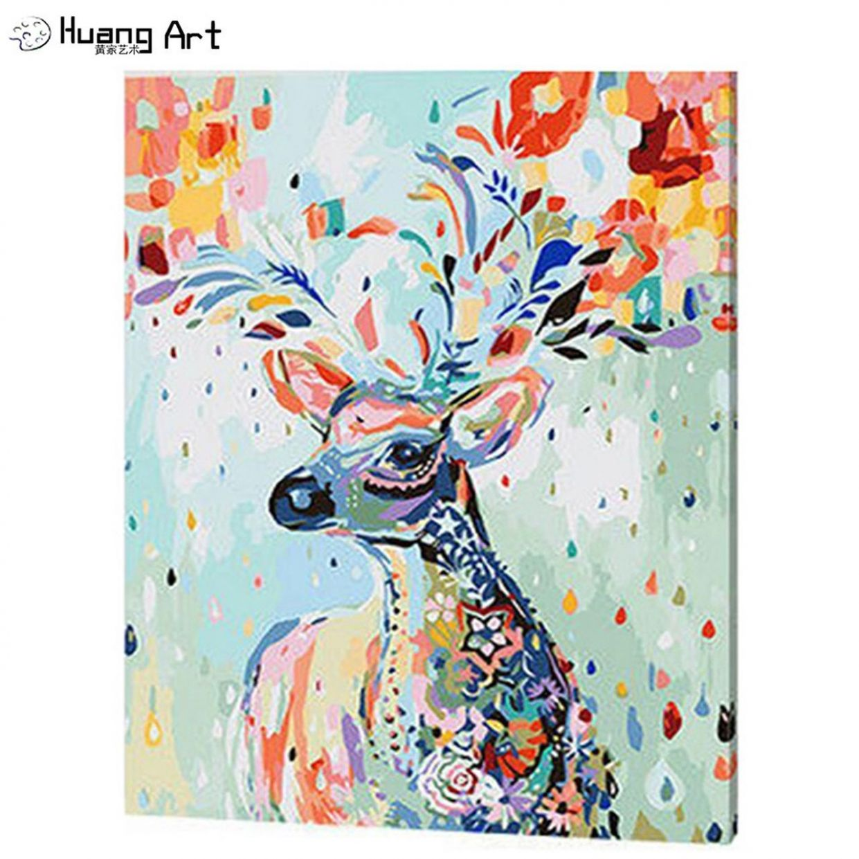 Diy Oil Painting By Numbers Wall Art Picture Home Decor Sika Deer Acrylic  Paint On Canvas For Artwork Handmade Animal Painting - diy home decor paintings