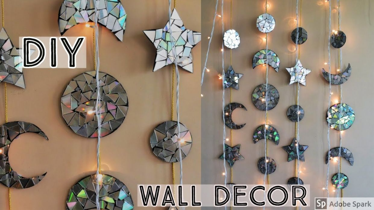 DIY | WALL DECOR | Unique Wall Decor | Home Decor Ideas | waste material  Craft - wall decoration ideas using waste material
