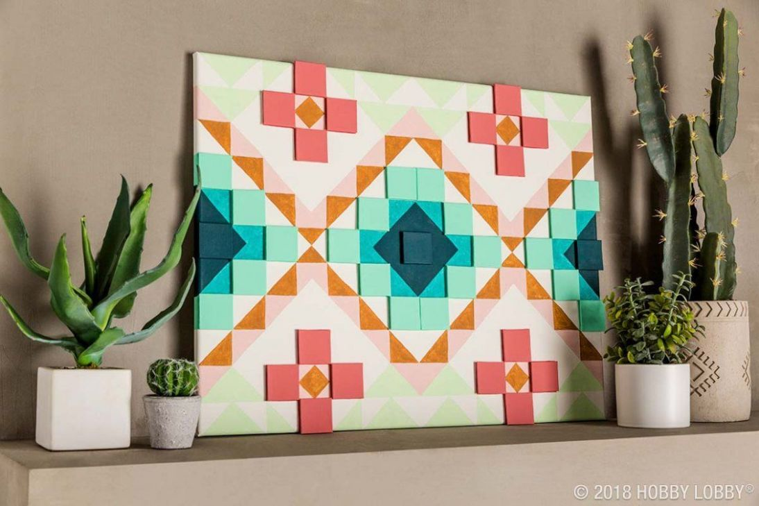 DIY your very own Southwestern pop-up art with canvas! | Pop up art - diy home decor paintings