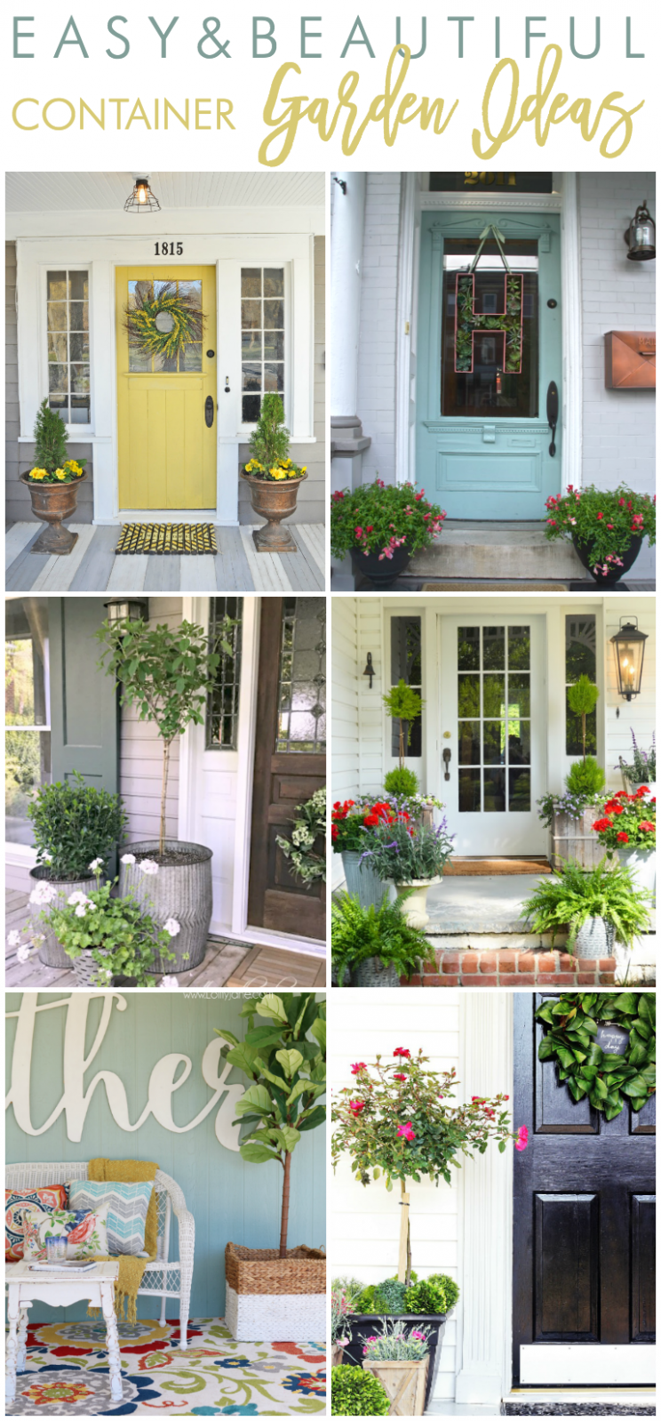 Easy and Beautiful Container Garden Ideas for Your Porch | Porch ...