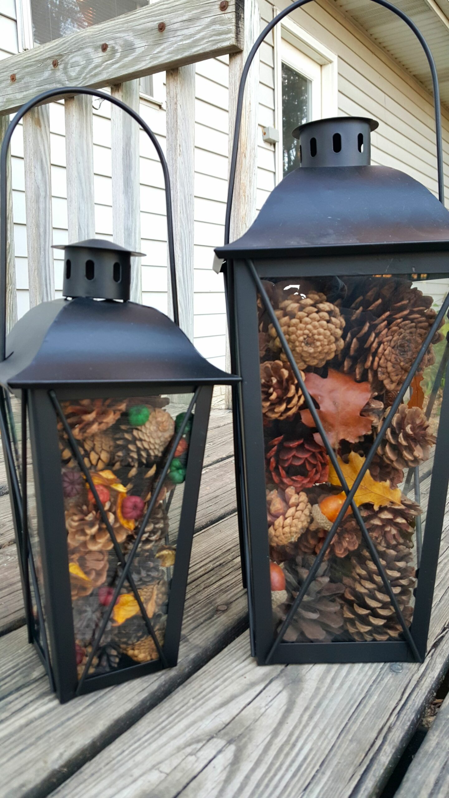 Easy Pinecone Lantern Festive Holiday Home Decor